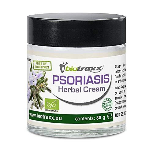 Biotraxx Psoriasis Kräutercreme | 30 g | 100% Natürlich | Glasbehälter | Hergestellt in Deutschland
