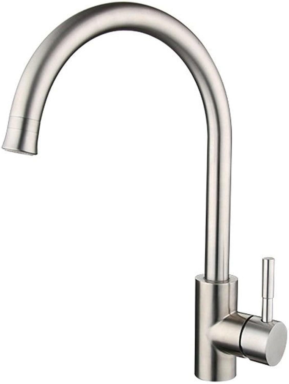MEIBATH Küchenarmatur Mischbatterie Küche Wasserhahn Spültischarmatur Edelstahl gebürstet Wasserhahn
