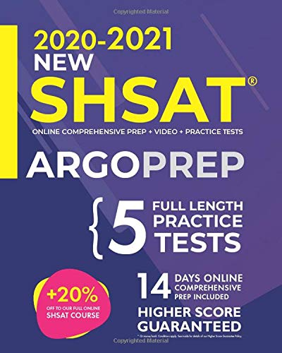 SHSAT Prep by ArgoPrep: NEW SHSAT + 5 Full-Length Practice Tests + Online Comprehensive Prep + Video + Practice Tests