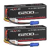 HOOVO 11.1V 60C 6200mAh 3S Lipo Battery Hard Case with EC5 Connector...