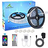 ALED LIGHT Tiras LED 5050 RGB 5m de Longitud 150 LED Multicolor Control Remoto de 44...