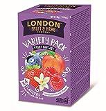 DEU London Fruit & Herb Company Assortimento di Infusi Aromatizzati in 4 Sapori alla Frutta Senza Caffeina - 4 x 5 Bustine di Tè (40 Grammi)