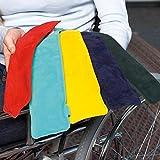 Lehnenpolster (2 Stück, TÜRKIS) mit Gelfüllung, inkl. Klettband, geeignet für Roll- und...
