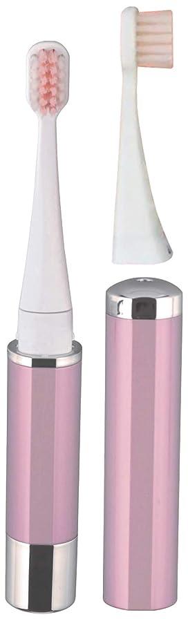 氷再生どうやらロゼンスター マイナスイオン音波振動歯ブラシ 替えブラシ2本付き ピンク TB-510P