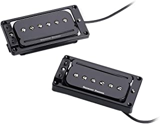 Seymour Duncan 11303-03-B2 P-Rails with Flat Triple Shot Set (Flat Top) - Black