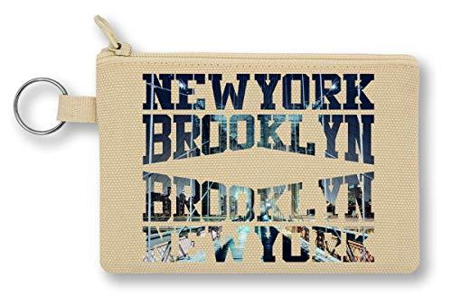 New York Brooklyn Gang Series Cool Phrases Words Geldbörse mit Reißverschluss