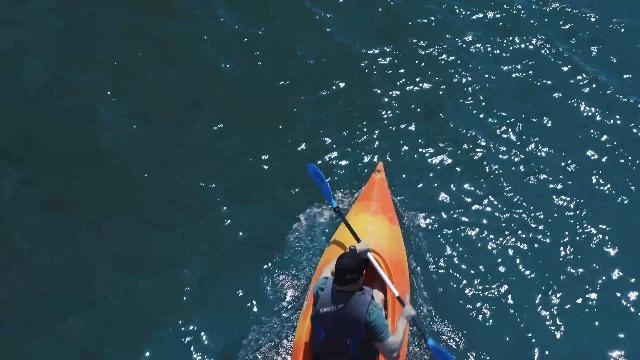 51YWtPqoZVL OVERMONT Paddel Aluminium Doppelpaddel Paddel mit Verstellbaren Paddel-Blätter für Kanusport Kajakfahren Kanadier Boot…