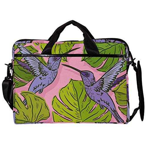 Mochila unisex para ordenador o tableta, ligera para portátil, bolsa de viaje de lona, 13.4-14.5 pulgadas, con hebillas, diseño de rana, color verde