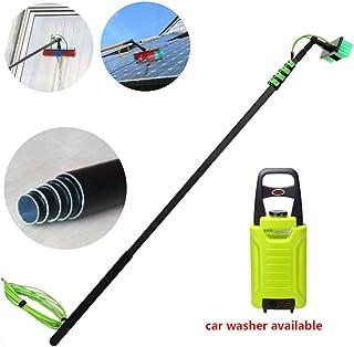 12.8M Útiles de Limpieza Limpiador Fotovoltaica Panel,Multipropósito en Spray de Agua Cepillo, Limpiador Extensible para C...