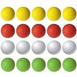 Faffooz Pelotas De Práctica De Golf De Espuma, Colores Brillantes Y Vivos, Diseñadas para Principiantes Y Golfistas Avanzados, Duraderas Y Suaves para Entrenamiento En Interiores O Exteriores-20pcs
