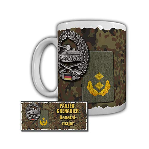 Tasse Panzergrenadier Generalmajor Litzen Kragenspiegel Barett Karabiner #29871