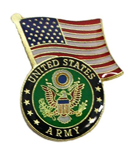 Ted and Jack - Wear It Proudly Ceramic and Metal Military Lapel Pin (Army Flag)