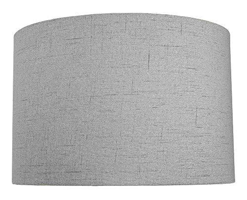 Modern und schlank Grau Struktur Leinen Stoff Trommelschirm 60w Maximum von Happy Homewares