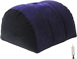 Prettyia Adult Folding PVC Inflatable Air Pillow Toys Toys - Dark Blue, 01