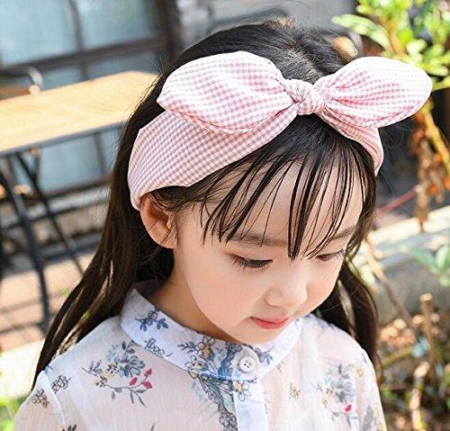 GaGadot Baby-Gitter gedruckt Stirnband Mädchen Cartoon Fliege Haarband (Pink)