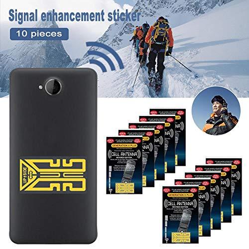Telefon Signalverstärker 10Pcs Phone Signal Enhancement Stickers Cell Phone Antenna Signal Booste Sticker Handy-Signalverstärker Antennenverstärker Handy Booster Aufkleber für Analoge,Tri-Band-Telefon