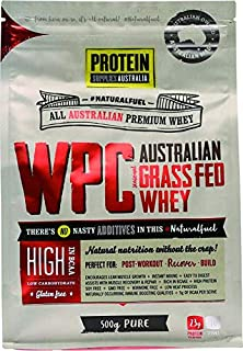 Protein Supplies Australia Pure Whey Protein Concentrate Powder 500 g,, Pure 500 grams