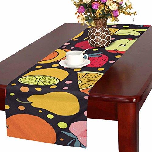 Zenzzle Camino de Mesa, 40,6 x 182,8 cm, con Estampado de Frutas Coloridas