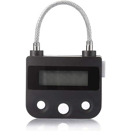 IPT タイマー式南京錠 USB充電 防犯グッズ タイムロック ダイエット 禁煙 欲望 セルフコントロール ◇JD-AB2042