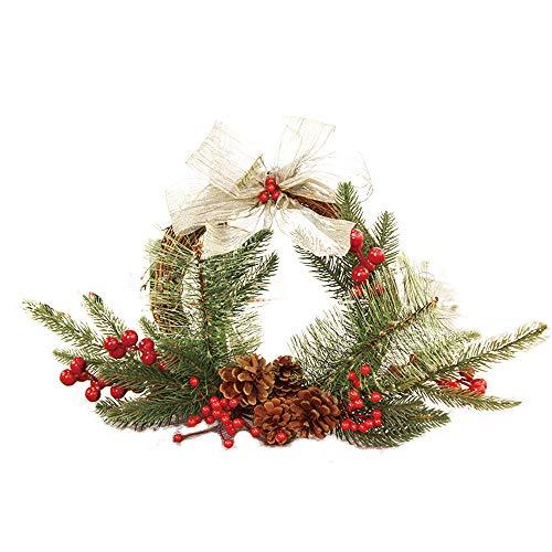 Decoración de Navidad,Dragon868 Navidad guirnalda para la puerta del partido decoración guirnalda de la pared 25 cm