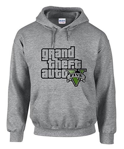 shirt19 GTA V GTA 5 Grand Theft Auto 5 Rockstar Jogos Games Logo Kapuzenpullover Hoodie – 3310 (M)