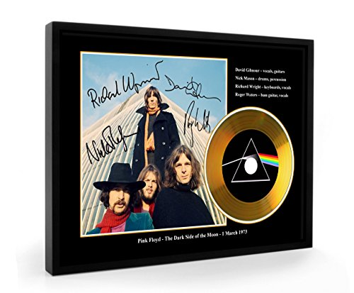 Pink Floyd Dark Side Of The Moon Replica gerahmte CD Gold Disc (B)