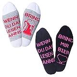 Herren Bunte Lustige Socken, Verrückte Socken Modische Mehrfarbig Klassisch als Geschenk, Neuheit Crew Socken