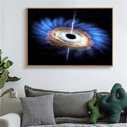 GJQFJBS Leinwanddruck Schwarz Loch Poster Universum Kunst Nebel Galaxy Wandbild Für Wohnzimmer Dekoration A1 50x70 cm