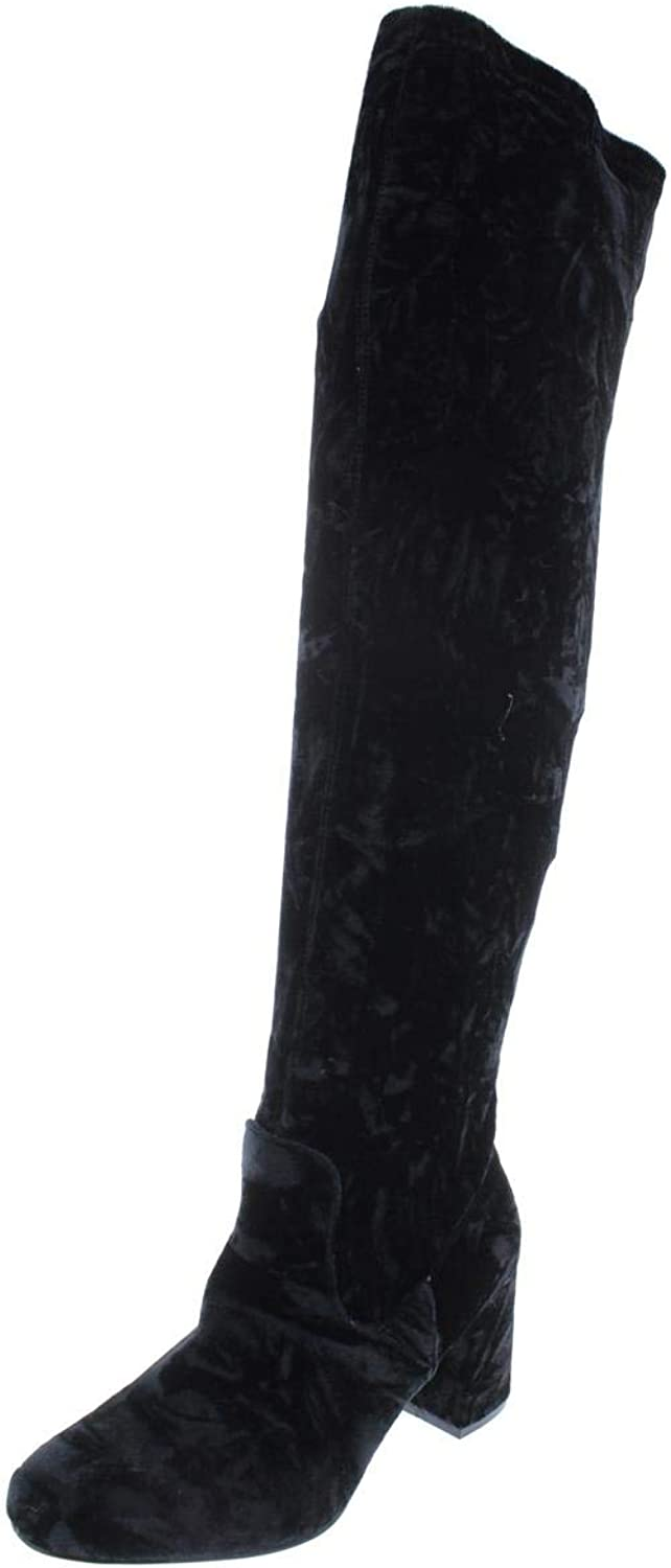 Hippie Laundry Womens Bali Velvet Block Knee-High Boots