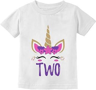 Gift for 2 Year Old Girl Unicorn 2nd Birthday Toddler Kids T-Shirt