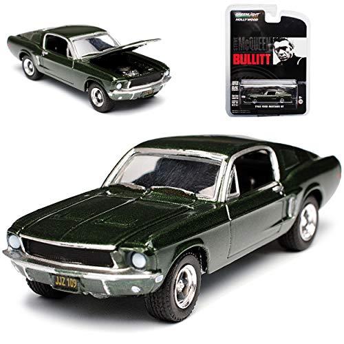 Greenlight Ford Mustang Bullitt Grün Coupe Steve McQueen 1968 1/64 Modell Auto