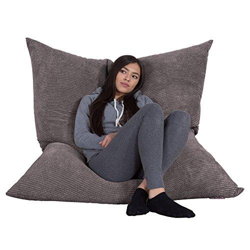 Lounge Pug®, Riesen Sitzsack XXL, Sitzkissen, Pom-Pom Anthrazit