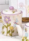 Barattolo portavivande biscottiera collezione SpringTime di Mandorle cm.16 x 12,5...