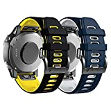 ANBEST Correa de Silicona Compatible con la Pulsera Fenix 6, Pulsera de Repuesto de 22 mm con Liberación Rápida para Reloj Inteligente Fenix 5/5 Plus/Fenix 6 Pro/Forerunner 935 945