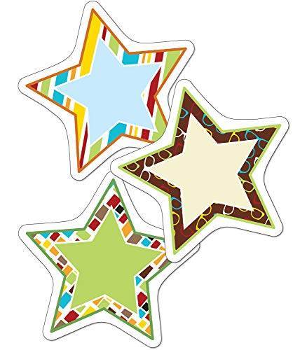 Carson Dellosa – Hipster Stars Colorful Cut-Outs, Classroom Décor, 36 Pieces