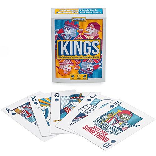 Kings Drinking Game Playing Cards - Waterproof Custom Plastic...