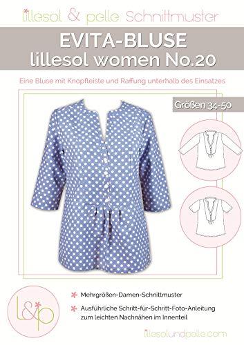 Lillesol & Pelle Schnittmuster women No20 Evita-Bluse Papierschnittmuster