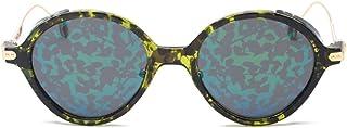 Fashion Creative Pattern Color Film Driver Sunglasses UV400 Female Polarized Sunglasses Retro (Color : Green)