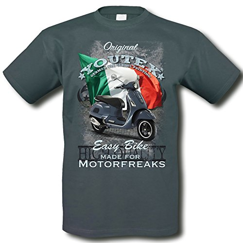 youtex Vespa GTS Motorroller Vintage T-Shirt (L)