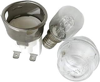 E14 2501 - Soporte para lámparas de horno, frente de horno de alta temperatura de 500 grados, cubierta de horno con bombil...