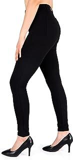 Yogipace, Belt Loops, Women's Petite/Regular/Tall Dress Pant Skinny Yoga Work Pants Leggings with Back Pockets Office Comm...