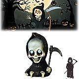 Peltrt Muñeca Grim Reaper, Miniatura Linda de la Muerte, Figuras góticas de la Parca Mini con guadaña, Estatua de la Parca en Miniatura de Resina fundida, Figuras de decoración del hogar (A)