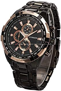 Curren Men Watch N8023 Gold Black Water Resistant