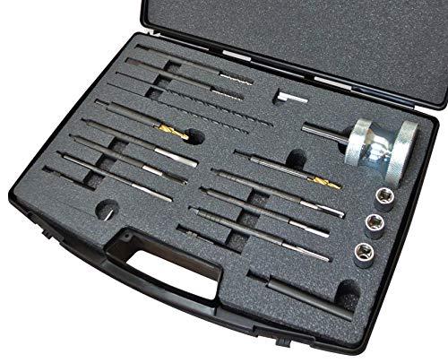 SW-Stahl 03701L Ausbohrwerkzeugsatz, universal, speziell für beschädigte Glühkerzen, mit M8, M9, 1,0 und M10 x 1,25 mm