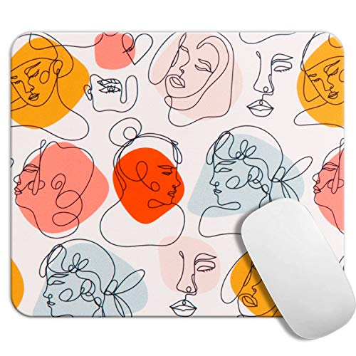 DQQH Gaming Mouse Pad Customized Rectangle Non-Slip Rubber Mousepad with Mini Cute Funny Art Design for Mac, PC, Computers. Ideal Partner for Working Or Game, Figure Painting