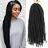 6 Packs Marley Twist Braiding Hair 24 Inch Marley Hair Crochet Braids Long Afro Kinky Synthetic Kanekalon Fiber Marley Hair For Twists Braiding Hair Extensions (24inch, 1#)