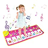 Musical Mat, LEADSTAR Foldable Piano Mat for Kids,Keyboard Electronic Music Carpet Touch Play