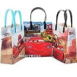 Disney Bolsas de regalo medianas reutilizables con licencia para coche, 12 unidades, 20 cm
