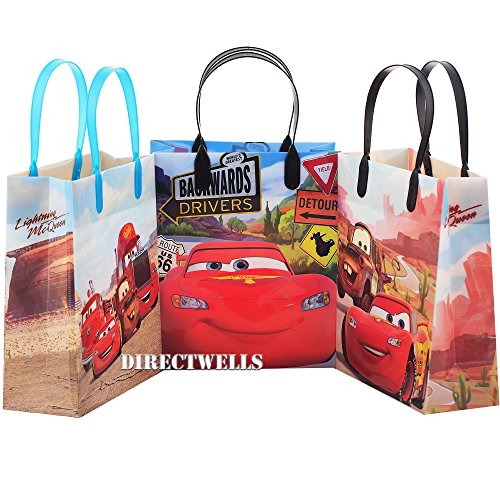 Disney Car Authentic Licensed 12 Party Favor Reusable Goodie Medium Gift Bags 8