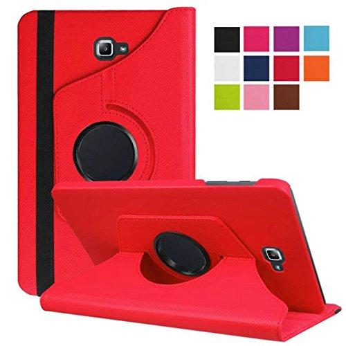 Lobwerk Tasche für Samsung Galaxy Tab A SM-T580 SM-T585 10.1 Zoll Schutz Hülle Flip Tablet Cover Hülle (Rot) NEU